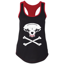 Load image into Gallery viewer, Jolly Badger, Black and Red, Ladies', Tank