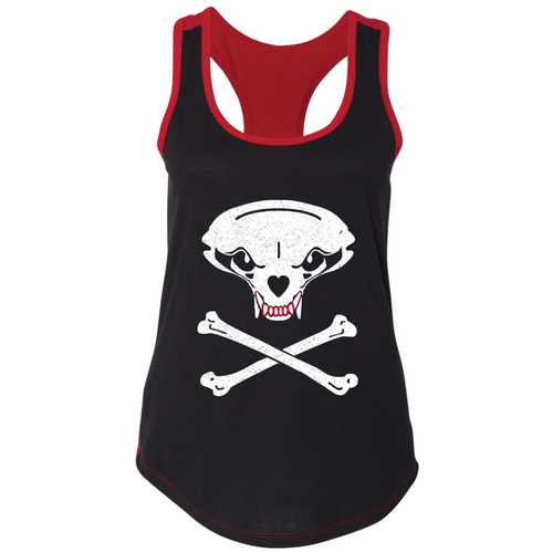 Jolly Badger, Black and Red, Ladies', Tank