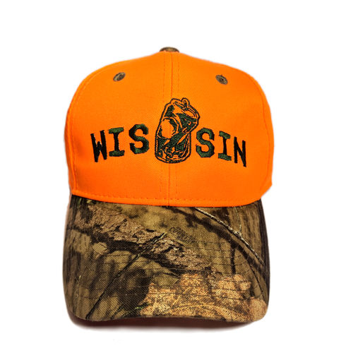 WIS[]SIN, Orange, Oak Camo, Hunting Cap
