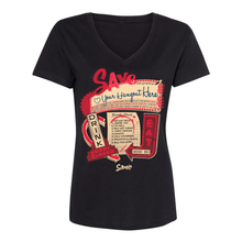 Load image into Gallery viewer, Save our bars and restaurants! We can help! Ladies' V-neck