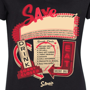 Save our bars and restaurants! We can help! Ladies' V-neck