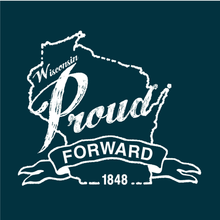 Load image into Gallery viewer, Wisconsin Proud, Navy, Unisex, T-shirt
