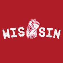 Load image into Gallery viewer, WIS[]SIN, Red, Unisex, Hoodie