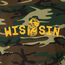 Load image into Gallery viewer, WIS[]SIN, Green Camo & Gold, Unisex, T-shirt