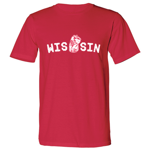 WIS[]SIN, Red, Unisex, T-shirt