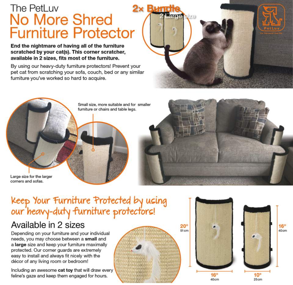 Cat Scratch And Claw Furniture Protector For Sofas - PetLuv Happy Cat