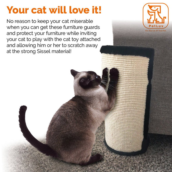 "PetLuv ""Stop The SHREDDING Cat Scratch & Claw Furniture Protector for Chairs, Sofas, Beds. Corner Scratcher - Protects Upholstery from Clawing, Scratching, Shredding"