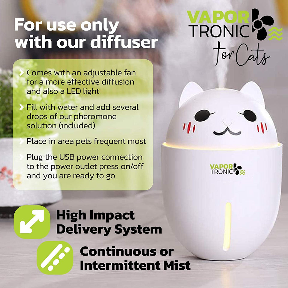 PetLuv Cat Calming Pheromone Diffuser Refill, Pet Behavior and Anxiety Support Refill for Cats, Calm Formula for Scratching, Spraying, Marking, Anxiety