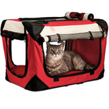 Red Premium Soft Sided Pet Carrier - PetLuv Happy Cat