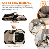 Soft Sided Pet Carrier PetLuv Happy Cat-Tan - PetLuv Happy Cat