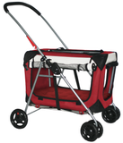 "PetLuv ""Happy Cat"" 3 in 1 Premium Pet Stroller, Crate & Carrier Soft Sided Reduces Anxiety"