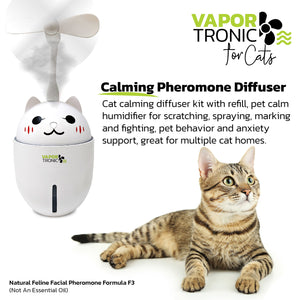 "PETLUV ""VAPOR-TRONIC"" CALMING PHEROMONE DIFFUSER FOR SCRATCHING, SPRAYING, MARKING AND FIGHTING, PET BEHAVIOR AND ANXIETY SUPPORT, GREAT FOR MULTIPLE CAT HOMES!"