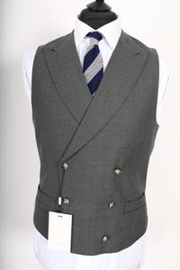 NWT Suitsupply Pierre Green 100% Wool DB Vest - Size 38R