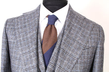 Load image into Gallery viewer, New Suitsupply Havana Gray Check Wide Lapel Wool/Cashmere 3 Piece Suit - Size 40R