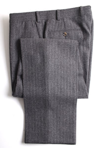 New Suitsupply Havana Gray Pinstripe 100% Wool Super 130s DB Suit - Size 40S