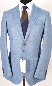 New Suitsupply Havana Light Blue Wool, Cashmere and Silk Blazer - Size 38R