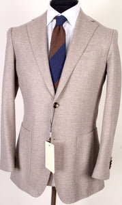 New Suitsupply Havana Brown Twill Weave Wool/Cashmere Blazer - Size 38R