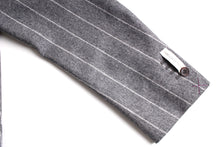 Load image into Gallery viewer, New Suitsupply Havana Gray Stripe 100% Wool Flannel DB Jacket - Size 40R and 42R