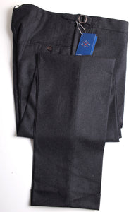 "New Suitsupply JORT Bolton ""Fishtail"" Dark Gray Wool/Cashmere Trousers - Size 42R (37 inches)"