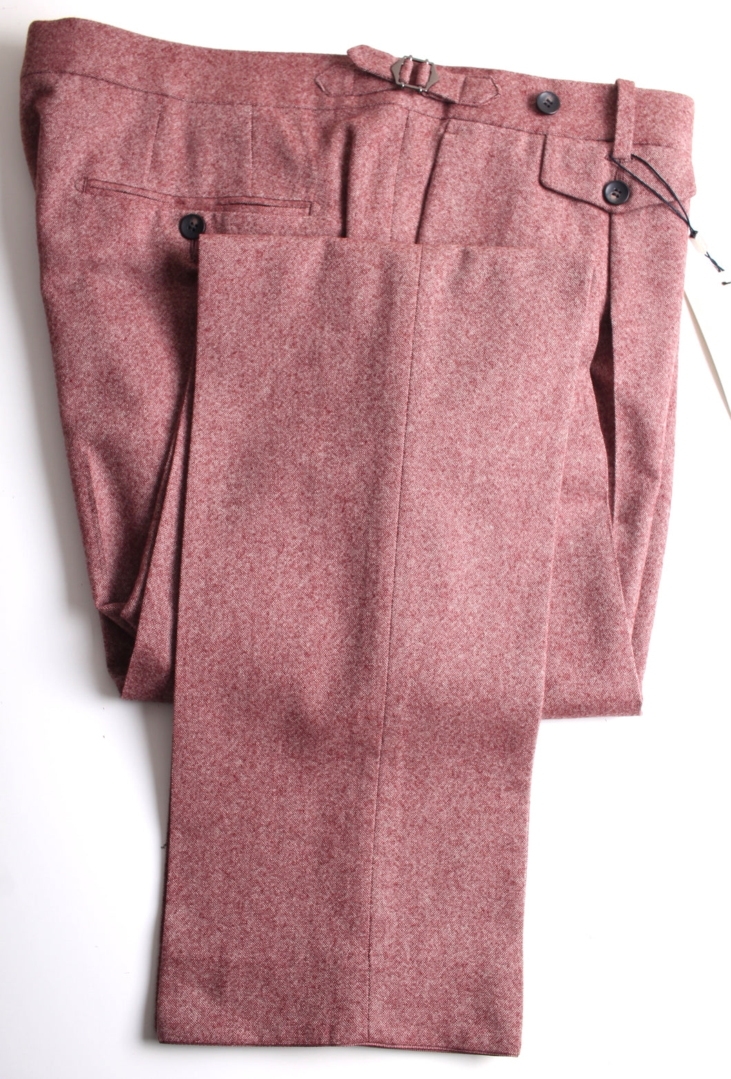 New Suitsupply BRENTWOOD Pink Wool and Cashmere Trousers - Size 46R (40.2 Inches)