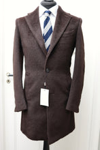 Load image into Gallery viewer, New SUITSUPPLY Vincenza Brown Furry Llama/Wool Overcoat - Size 36R and 38R