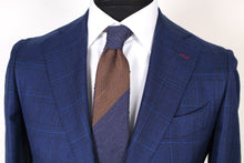 Load image into Gallery viewer, New Suitsupply La Spalla Navy Check Wool, Silk and Linen Suit - Size 36S