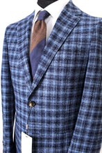 Load image into Gallery viewer, New Suitsupply Havana Blue Check Wool and Silk Blazer - Size 36R and 38R