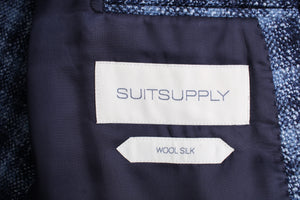 New Suitsupply Havana Blue Check Wool and Silk Blazer - Size 36R and 38R