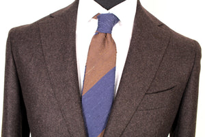 New Suitsupply Havana Brown Plain 100% Wool Blazer - Size 38R