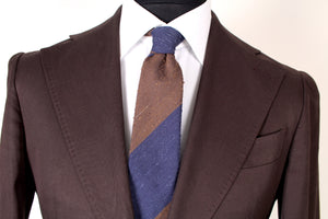 Used Suitsupply Havana Sartorial Chocolate Brown 100% Cotton Suit - Size 38R (Suitreview Wardrobe)