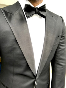 USED SUITSUPPLY Lazio 100% Wool Tuxedo Jacket - Size 40R