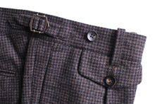 Load image into Gallery viewer, New Suitsupply Brentwood Brown Houndstooth 100% Wool Trousers - Size 38R (33.9 Waist)
