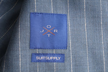Load image into Gallery viewer, New Suitsupply JORT Light Blue Stripe 100% Wool Unlined Suit - Size 38R