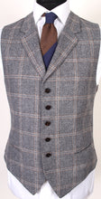 Load image into Gallery viewer, New Suitsupply JORT Gray Check 100% Wool Super 130s 3 Piece Suit - Size 42R (FINAL SALE)