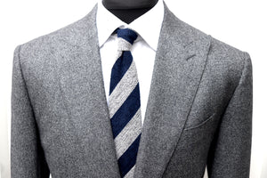 New W. Tags SUITSUPPLY Washington Gray Plain 100% Wool 120s Suit - Size 46L