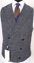 Load image into Gallery viewer, New Suitsupply PIERRE Gray Plain 100% Cotton DB Waistcoat - Size 36R, 38R, 40R, 42R