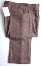 Load image into Gallery viewer, New Suitsupply Brentwood Brown Plain 100% Wool Trousers - Size 44R and 46R