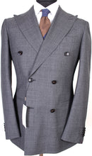 Load image into Gallery viewer, New Suitsupply Havana Mid Gray 100% Wool DB Suit - Size 36R *RARE*