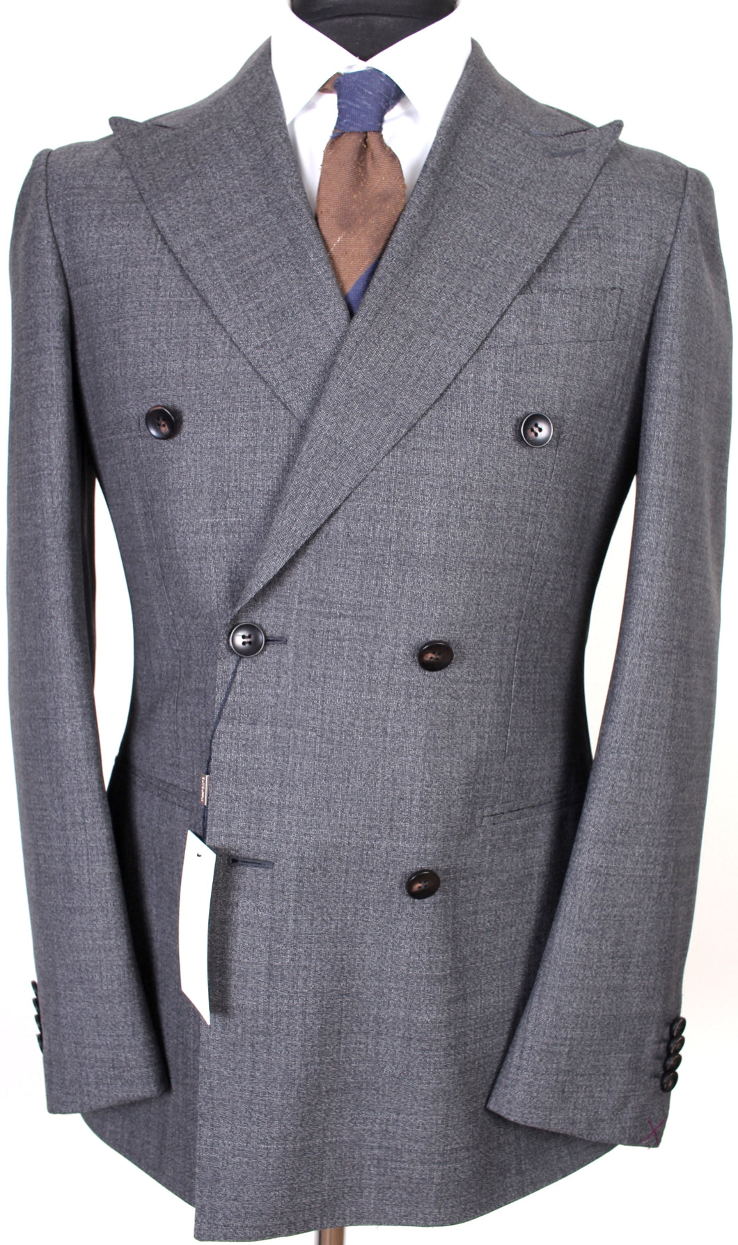 New Suitsupply Havana Mid Gray 100% Wool DB Suit - Size 36R *RARE*