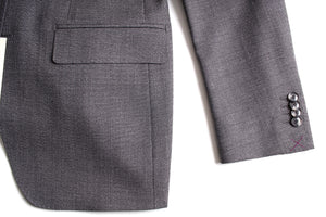 New Suitsupply Havana Mid Gray Plain 100% Wool Super 120s Suit - Size 36R, 38S, 38R, 40S, 40L, 42R, 42L, 46R