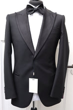 Load image into Gallery viewer, NWT SUITSUPPLY LAZIO Black 100% Wool Peak Lapel Tuxedo Jacket - Size 42L