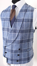 Load image into Gallery viewer, New Suitsupply Salvo Light Blue Check Linen, Silk, Cotton Waistcoat - Size 38R, 40R, 42R, 44R, 46R