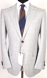 New Suitsupply La Spalla Light Gray 100% Wool Super 150s Suit - Size 40R