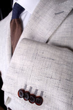 Load image into Gallery viewer, New Suitsupply Light Gray Wool and Linen Textured DB Blazer - Size 38S, 38R, 40R