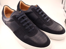 Load image into Gallery viewer, New In Box Navy Blue Italian Calf Leather/Suede Sneaker - Size US 9