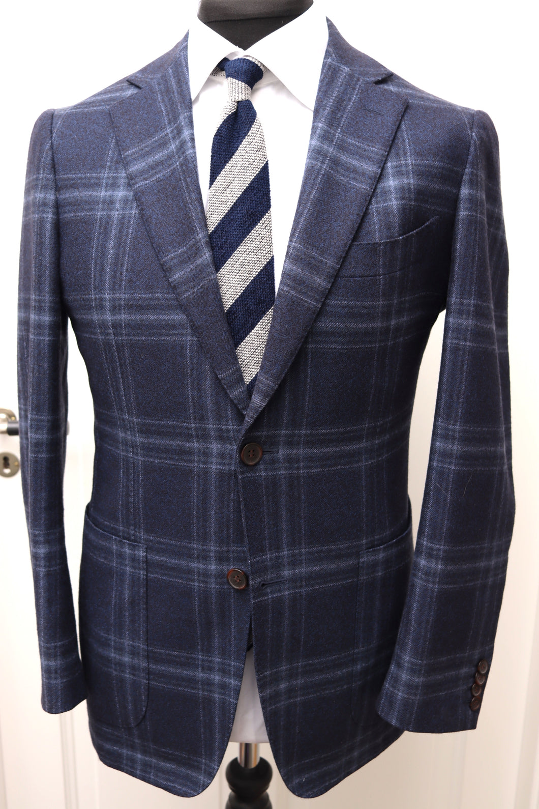 Used SUITSUPPLY HAVANA Blue Check 100% Wool Blazer - Size 38R