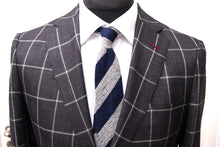 Load image into Gallery viewer, New W. Tags SUITSUPPLY Sienna Dark Gray Check 54% Silk Suit - Various Sizes Available
