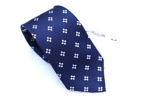 New With Tags SUITSUPPLY Navy Flower 100% Silk Tie