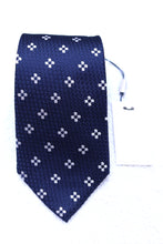 Load image into Gallery viewer, New With Tags SUITSUPPLY Navy Flower 100% Silk Tie