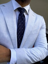 Load image into Gallery viewer, New With Tags SUITSUPPLY Havana Light Gray Houndstooth 100% Cotton Suit - SIze 38R